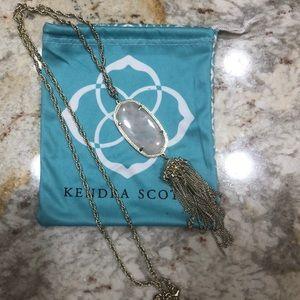 Kendra Scott gold/rose quartz